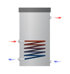 Hot water heater vector