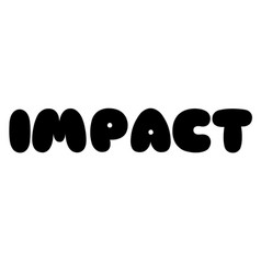 Impact stamp on white vector