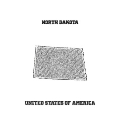 Label with map of north dakota vector