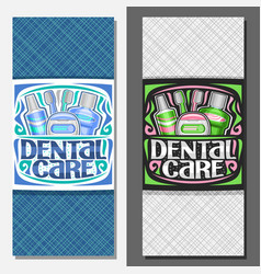 Layouts for dental care vector