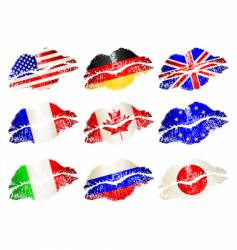 lip flags vector image