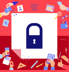 lock symbol icon vector image