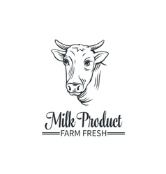 Logo milk product vector image