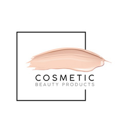 makeup design template with place for text vector image