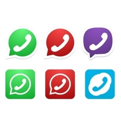 Modern phone icon set vector