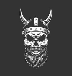 monochrome vintage skull vector image