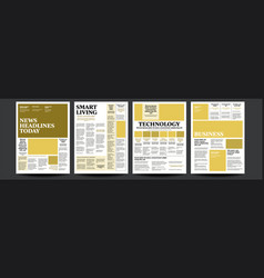 Newspaper with text and images daily vector