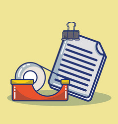 Office icon element to information report vector
