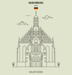 Our lady church in nuremberg vector