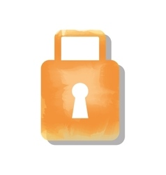 padlock watercolor isolated icon design vector image