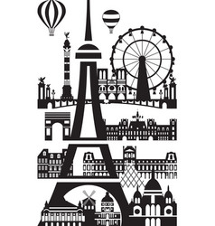 paris city skyline 8 vector image