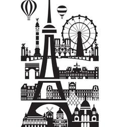 Paris city skyline 8 vector