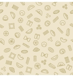 Pasta and dumplings seamless pattern vector