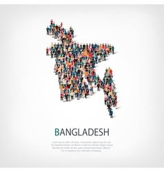 People map country Bangladesh vector