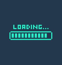 pixel art 8-bit cyber futuristic loading bar vector image