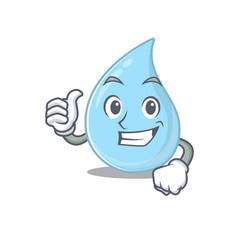 Raindrop cartoon character making ok gesture vector