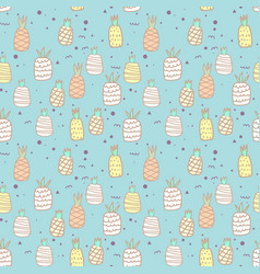 seamless pattern with pineapple background vector image