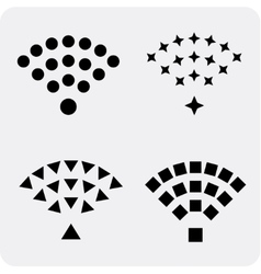 set black wireless and wifi icons vector image