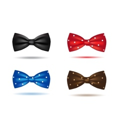 set of colorful realistic bow ties vector image