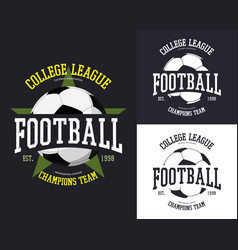 Set of isolated soccer or football ball vector