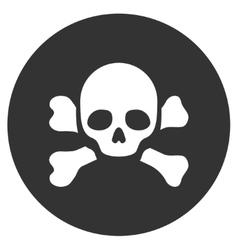 Skull Black Spot Flat Icon vector image