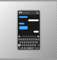 social network concept blank template messenger vector image