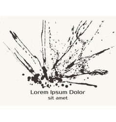 Splatter Black Ink Splash Background vector image