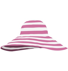 Summer beach hat vector