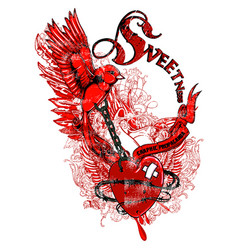 Sweet freedom vector