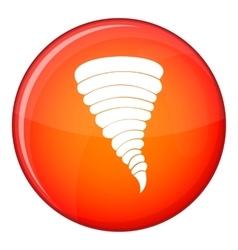 Tornado icon flat style vector
