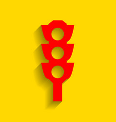 traffic light sign red icon with soft vector image