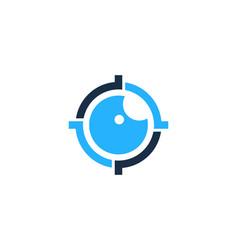 vision target logo icon design vector image