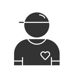 Volunteer glyph icon charity organization member vector