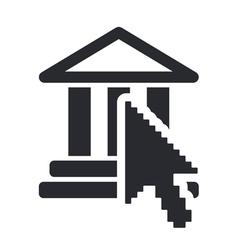 Web temple icon vector