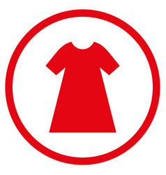 Woman dress rounded icon vector