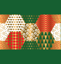 xmas luxury winter symbols seamless pattern vector image