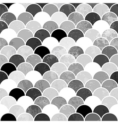 Fish scales monochrome Seamless Pattern vector image