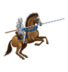 jousting knight vector image vector image