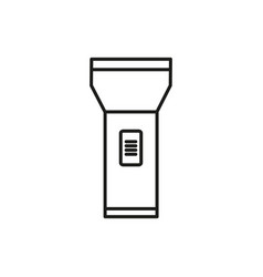 Simple flashlight thin line icon symbol design vector