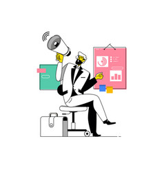 businessman shouting into megaphonemake an vector image