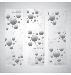 Collection vertical banner design molecule and vector