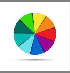 color round palette isolated on white background vector image