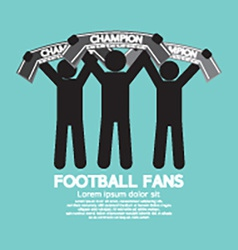 Football Fans With Champion Scarves vector image vector image