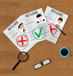recruitment concept vector image