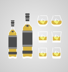 Whisky in glass vector image vector image