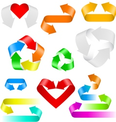 color arrows set of icons on white background vector image
