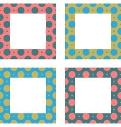 Cute frames set Vintage frames set vector image