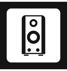 Music speacker icon simple style vector image vector image