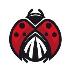 Red and black ladybug or ladybird vector image