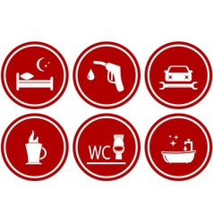 set icons for services during travel vector image vector image